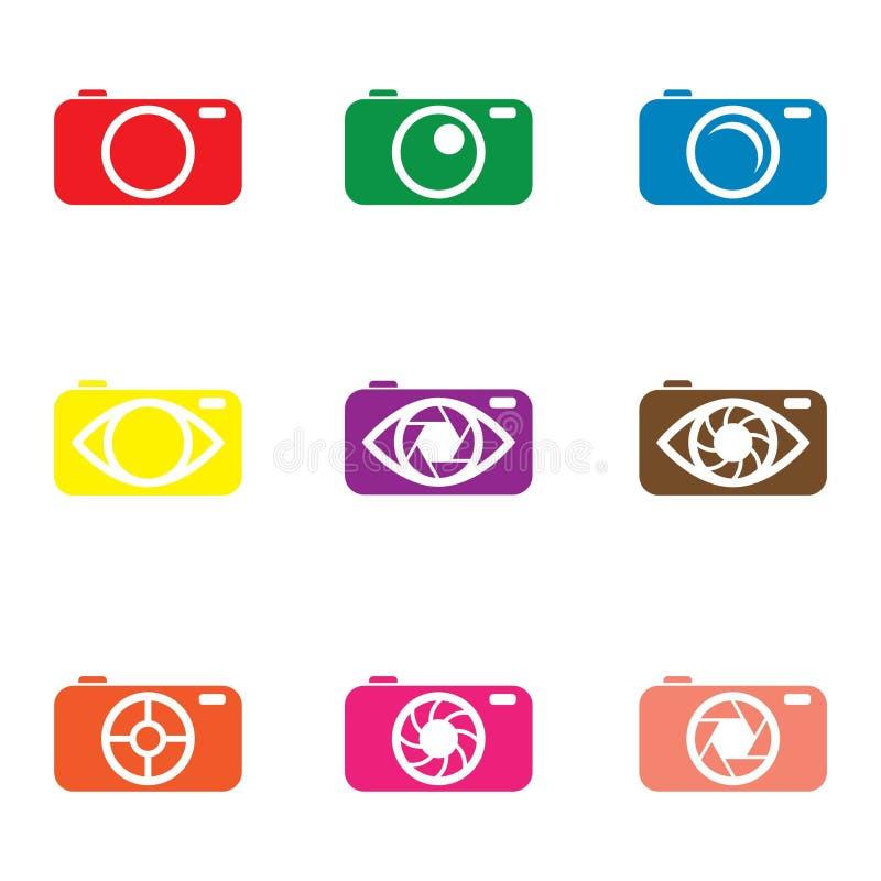 Λογότυπο καμερών ελεύθερη απεικόνιση δικαιώματος