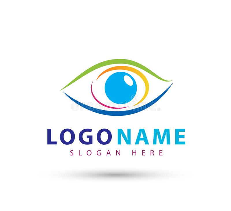 Λογότυπο κλινικών ματιών, ματιών μελλοντικό διανυσματικό πρότυπο συμβόλων ομορφιάς σχεδίου λογότυπων οράματος διανυσματικό ελεύθερη απεικόνιση δικαιώματος