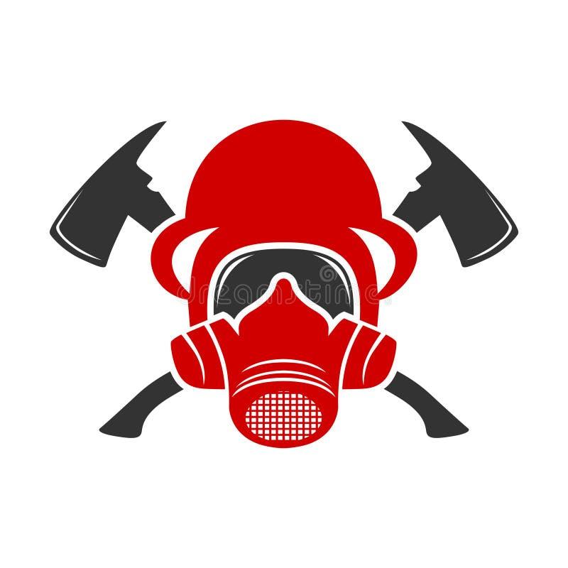 Λογότυπο κρανών πυρκαγιάς απεικόνιση αποθεμάτων