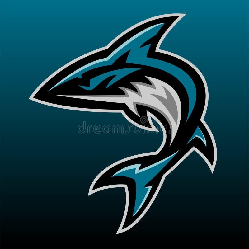 Λογότυπο μασκότ καρχαριών απεικόνιση αποθεμάτων