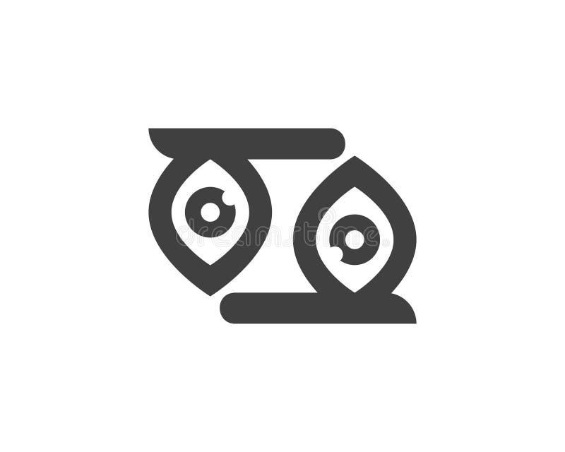 Λογότυπο υγείας προσοχής ματιών διανυσματική απεικόνιση