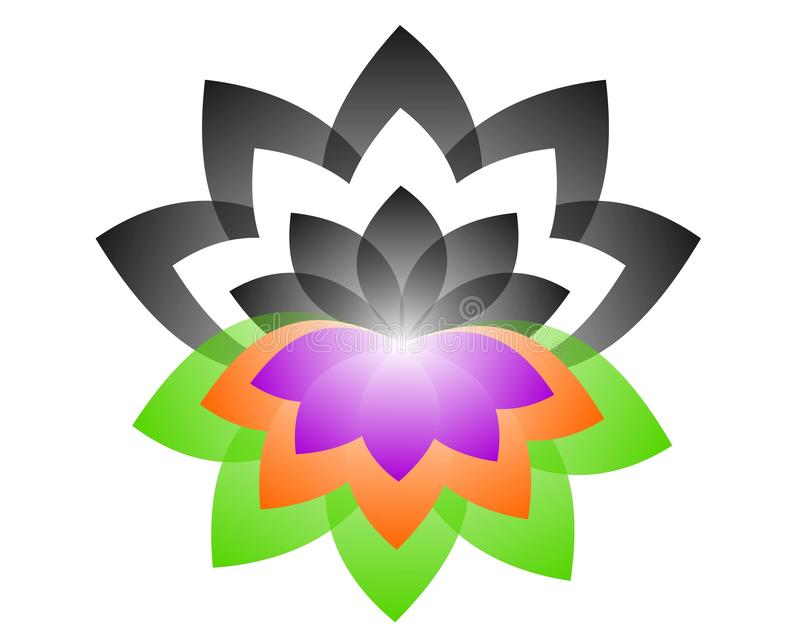 Λογότυπο Lotus yin yang απεικόνιση αποθεμάτων