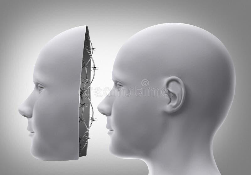 Μάσκα με οδοντωτό - καλώδιο διανυσματική απεικόνιση