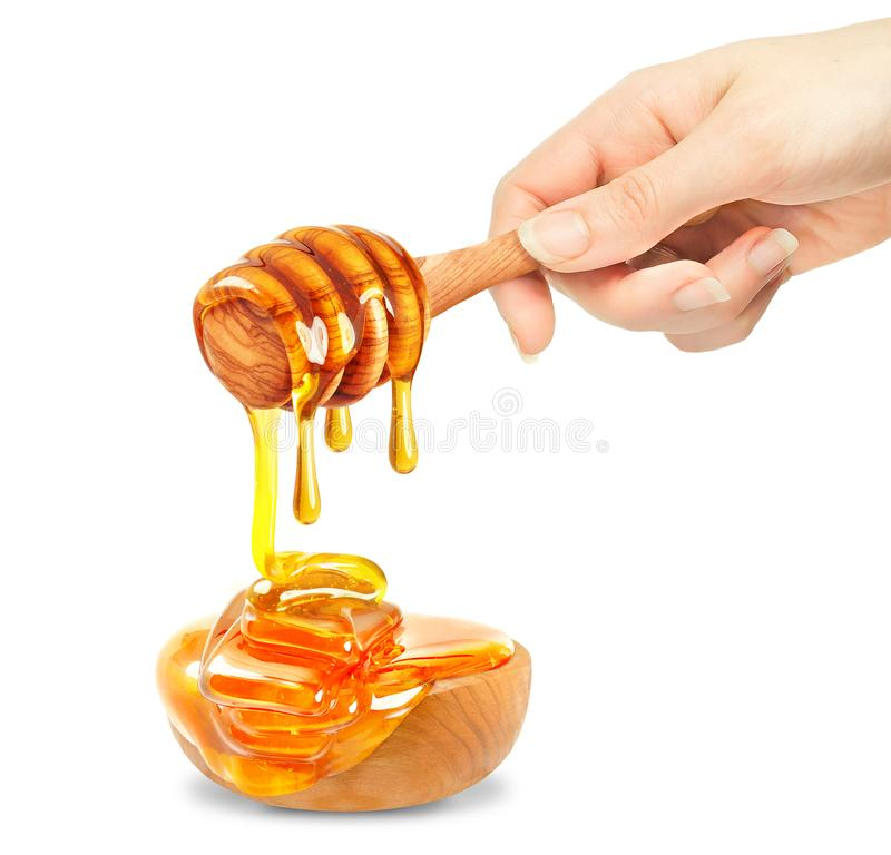 Μέλι και κύπελλο στοκ εικόνα με δικαίωμα ελεύθερης χρήσης