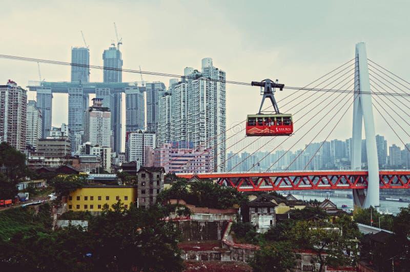 Μαγική πόλη CHONGQING, ΚΊΝΑ στοκ φωτογραφία με δικαίωμα ελεύθερης χρήσης