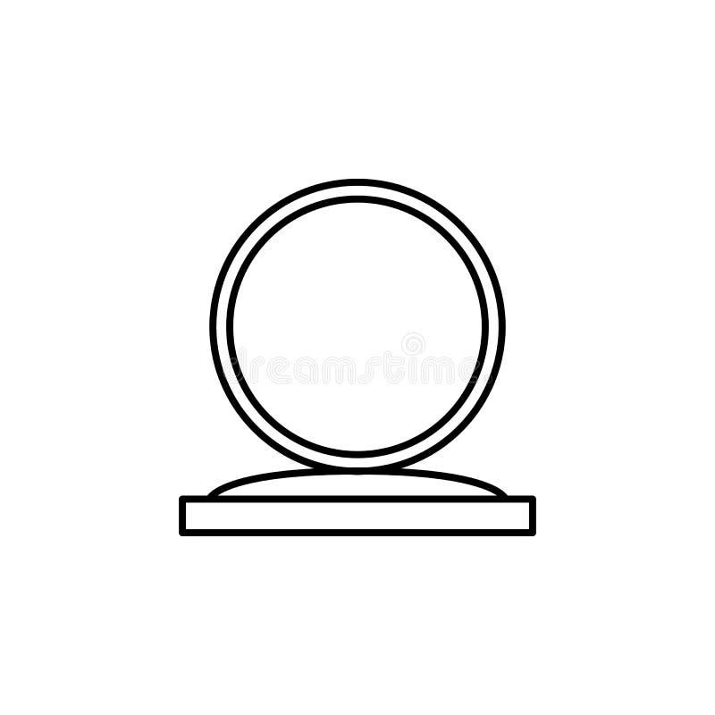Μαγικό κρύσταλλο, εικονίδιο περιλήψεων σφαιρών Τα σημάδια και τα σύμβολα μπορούν να χρησιμοποιηθούν για τον Ιστό, λογότυπο, κινητ απεικόνιση αποθεμάτων