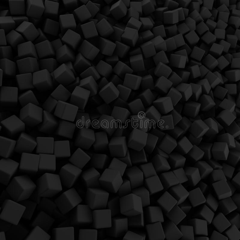 Μαύρος αφηρημένος σωρός του σκηνικού κύβων στοκ φωτογραφία με δικαίωμα ελεύθερης χρήσης