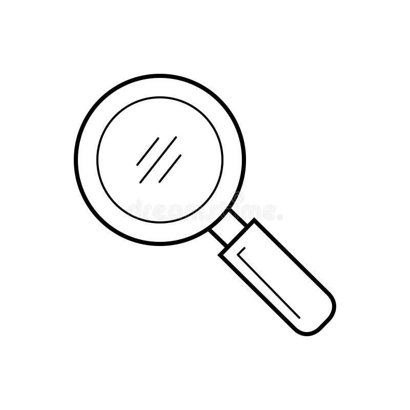 Μαύρο εικονίδιο γραμμών για την αναζήτηση, την αναζήτηση και την εύρεση απεικόνιση αποθεμάτων