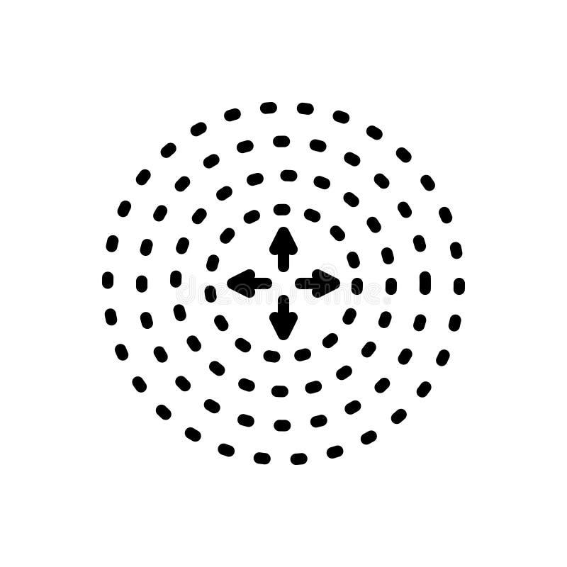 Μαύρο εικονίδιο γραμμών για τη διάχυση, τη διάδοση και τη διασπορά απεικόνιση αποθεμάτων