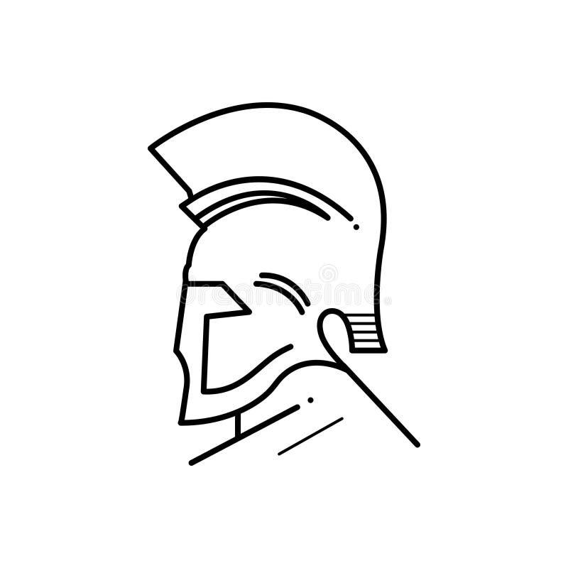 Μαύρο εικονίδιο γραμμών για τον ελληνικούς Θεό, το μουσείο και την Αίγυπτο ελεύθερη απεικόνιση δικαιώματος