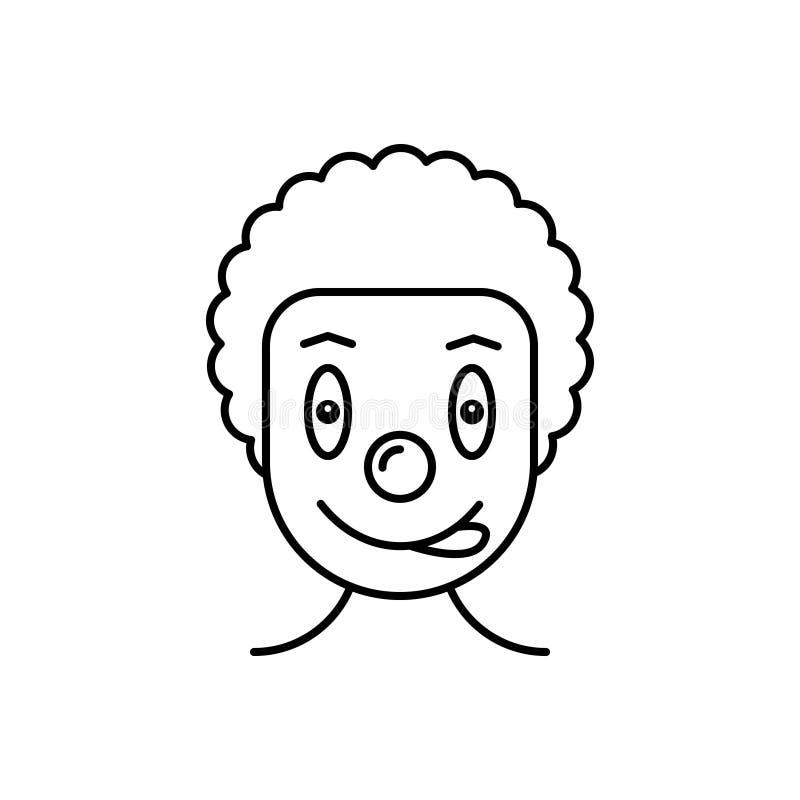 Μαύρο εικονίδιο γραμμών για τον κλόουν, το τσίρκο και τον πλακατζή ελεύθερη απεικόνιση δικαιώματος