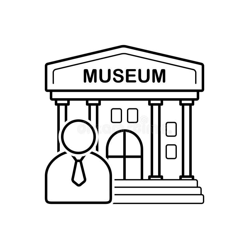 Μαύρο εικονίδιο γραμμών για τον οδηγό, το δάσκαλο και τον ξεναγό μουσείων ελεύθερη απεικόνιση δικαιώματος