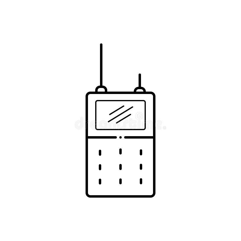 Μαύρο εικονίδιο γραμμών για Walkie, τη συζήτηση και την επικοινωνία απεικόνιση αποθεμάτων