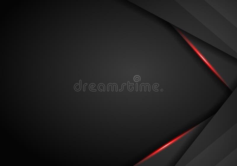 Μαύρο και κόκκινο υπόβαθρο μετάλλων Διανυσματικό μεταλλικό έμβλημα αφηρημένη τεχνολογία ανα&sigm ελεύθερη απεικόνιση δικαιώματος