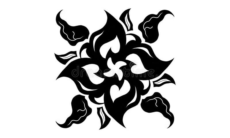 μαύρο φύλλο διανυσματική απεικόνιση
