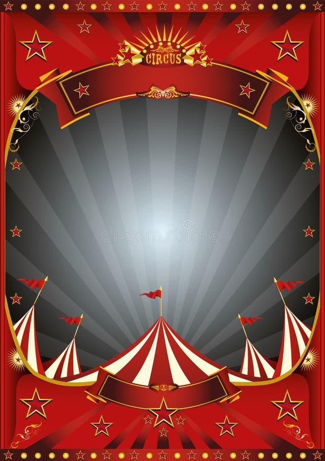 Μεγάλη τοπ αφίσα τσίρκων μπλε ουρανού απεικόνιση αποθεμάτων