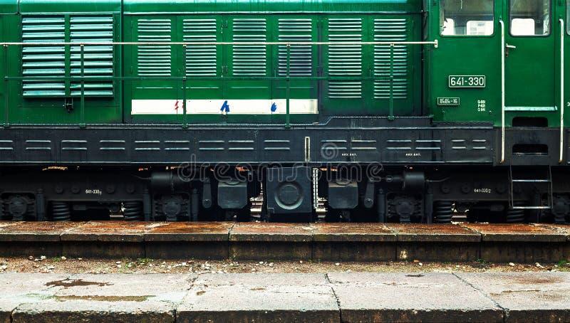 Μεγάλη πράσινη ατμομηχανή στοκ φωτογραφία με δικαίωμα ελεύθερης χρήσης