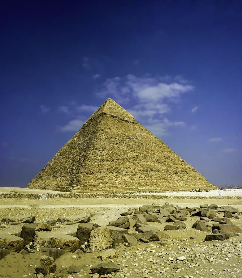 Μεγάλη πυραμίδα Khafre στο Κάιρο, Αίγυπτος στοκ φωτογραφία με δικαίωμα ελεύθερης χρήσης