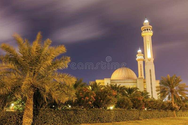 Μεγάλο μουσουλμανικό τέμενος Al Fateh σε Manama στοκ φωτογραφία
