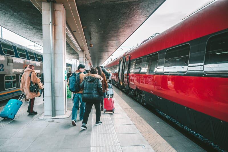 Μεγάλο τραίνο Italo στοκ φωτογραφίες