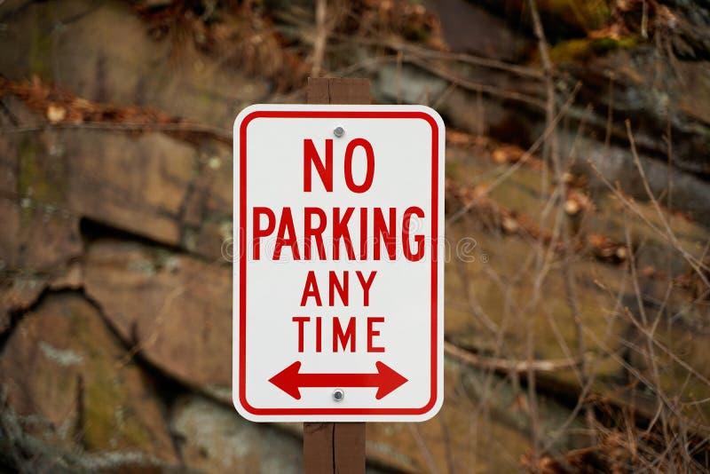 Μην υπογράψτε κανέναν χώρο στάθμευσης οποτεδήποτε στοκ εικόνες με δικαίωμα ελεύθερης χρήσης