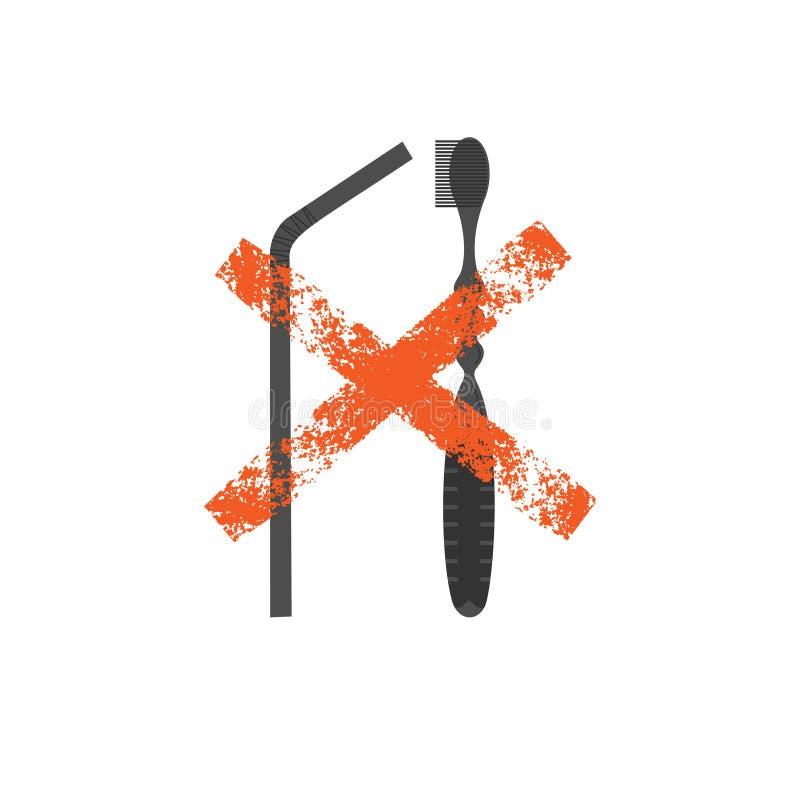 Μη ανακυκλώσιμη διανυσματική απεικόνιση προϊόντων ελεύθερη απεικόνιση δικαιώματος