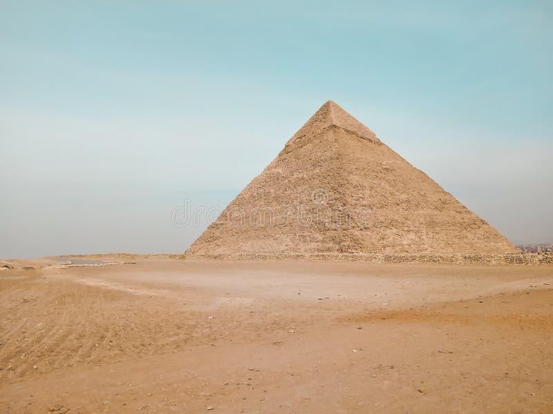 Μια άποψη της μεγάλης πυραμίδας σε Giza, Αίγυπτος στοκ εικόνες με δικαίωμα ελεύθερης χρήσης