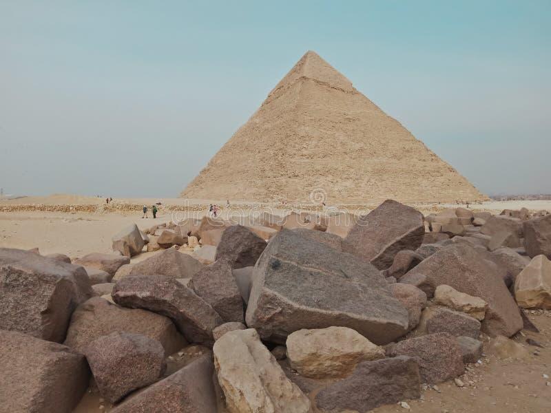 Μια άποψη της μεγάλης πυραμίδας σε Giza, Αίγυπτος στοκ εικόνες