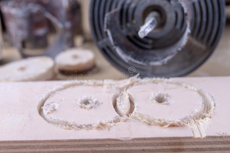 Μια συσκευή για τις τρύπες στο ξύλο Joinery εξαρτήματα για τους ενθουσιώδες DIY στοκ εικόνα