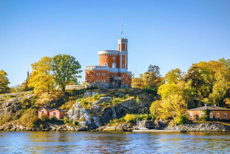 μικρό κάστρο στη Στοκχόλμη Σουηδία στοκ φωτογραφία