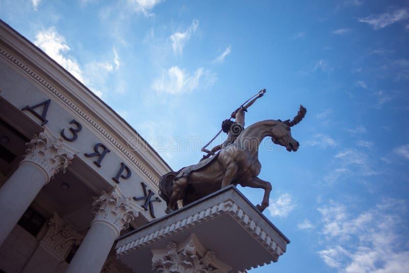 ΜΙΝΣΚ, ΛΕΥΚΟΡΩΣΙΑ - 9 ΣΕΠΤΕΜΒΡΊΟΥ 2013: Γλυπτική ομάδα κοντά στο τσίρκο στο Μινσκ στοκ φωτογραφία με δικαίωμα ελεύθερης χρήσης