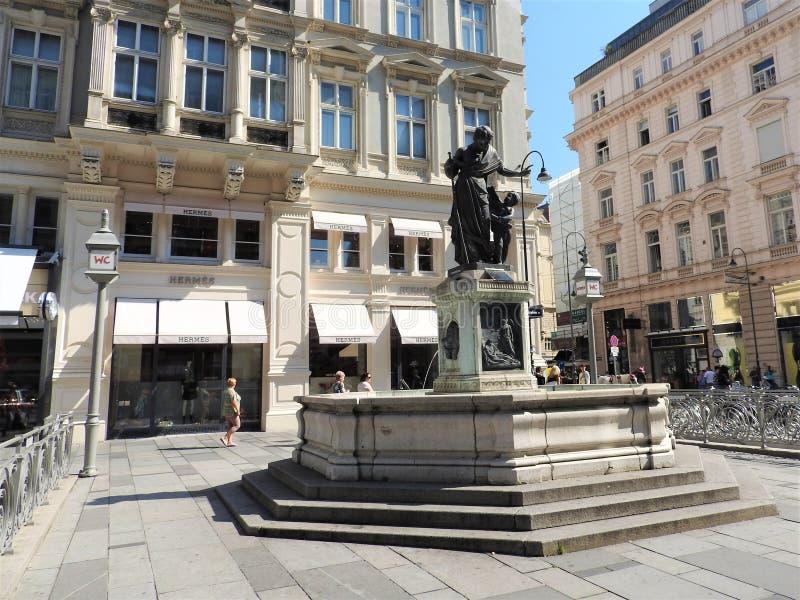 Μνημεία της Βιέννης, Αυστρία, μια σαφής ηλιόλουστη ημέρα στοκ φωτογραφίες με δικαίωμα ελεύθερης χρήσης