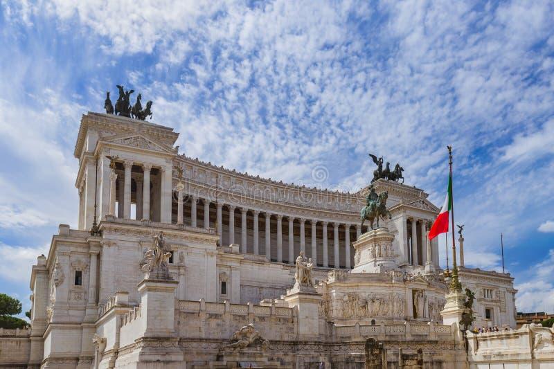 Μνημείο Vittorio Emanuele ΙΙ στη Ρώμη Ιταλία στοκ εικόνες