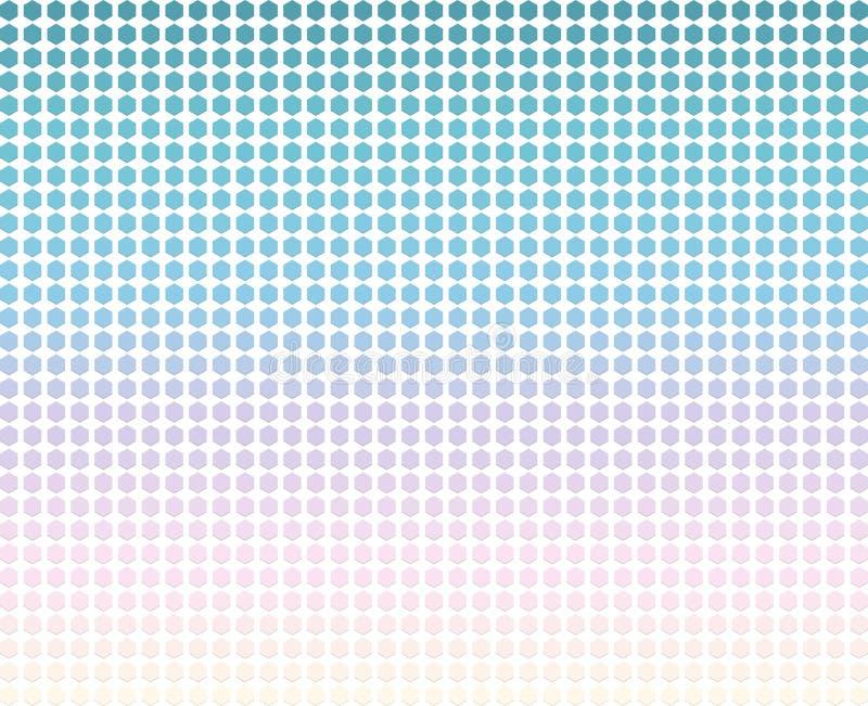 Μοντέρνο αφηρημένο υπόβαθρο με πολύχρωμα hexagons διάνυσμα διανυσματική απεικόνιση