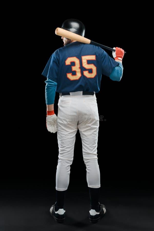 Μπέιζ-μπώλ hitter με ένα ρόπαλο στοκ εικόνα με δικαίωμα ελεύθερης χρήσης