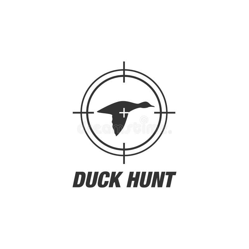 Μπαλώματα λογότυπων λεσχών πυροβολισμού κυνηγιού παπιών ελεύθερη απεικόνιση δικαιώματος