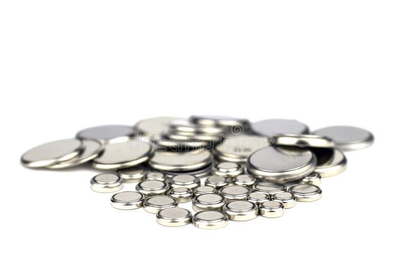 Μπαταρίες για τα ρολόγια απομονωμένος στοκ εικόνα με δικαίωμα ελεύθερης χρήσης