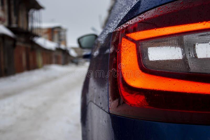 Μπλε αυτοκίνητο πίσω στοκ εικόνα