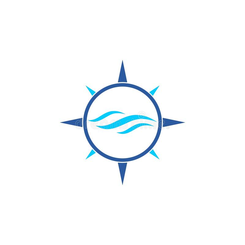 Μπλε εικονίδιο ή λογότυπο κυμάτων ελεύθερη απεικόνιση δικαιώματος