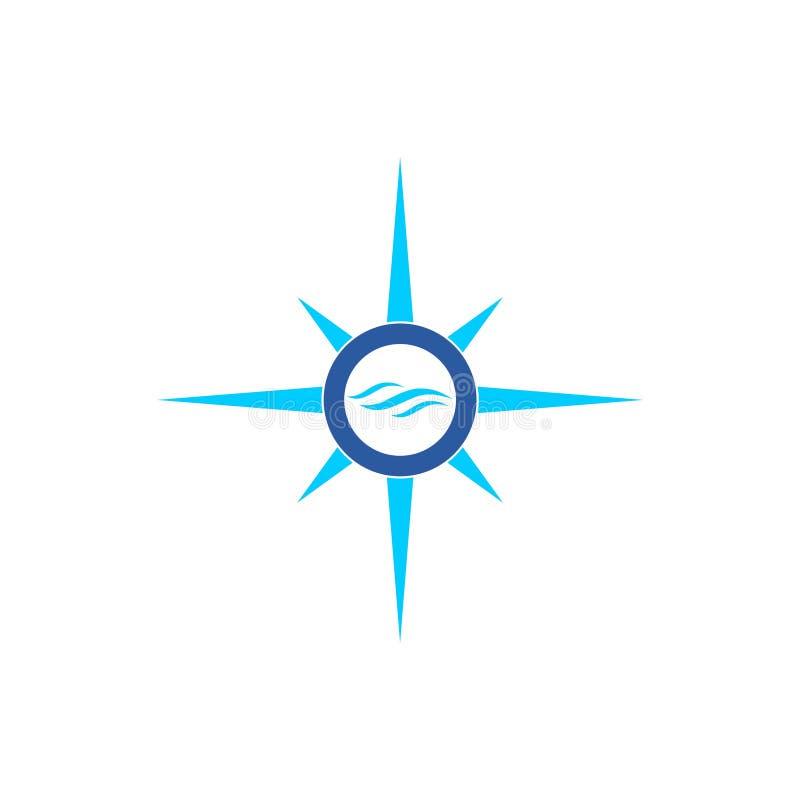 Μπλε εικονίδιο ή λογότυπο κυμάτων διανυσματική απεικόνιση