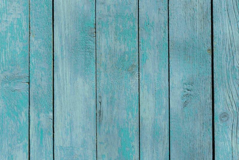 Μπλε συγκρατημένος τυρκουάζ παλαιός ξύλινος φράκτης ξύλινο υπόβαθρο περιφραγμάτων σύσταση σανίδων, ξεπερασμένη επιφάνεια στοκ εικόνες