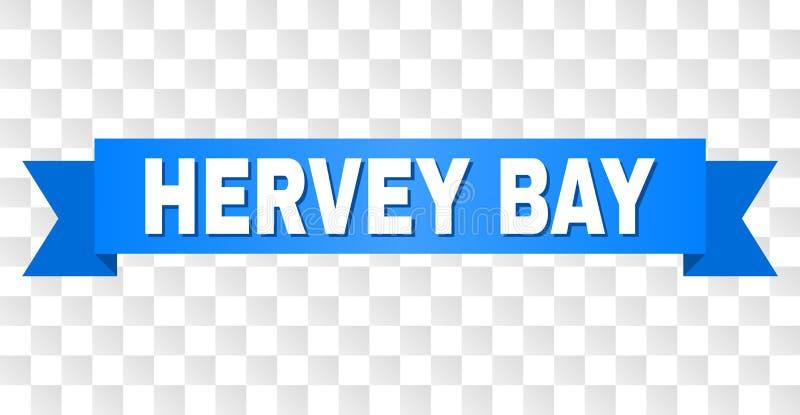 Μπλε ταινία με το κείμενο ΚΌΛΠΩΝ HERVEY διανυσματική απεικόνιση