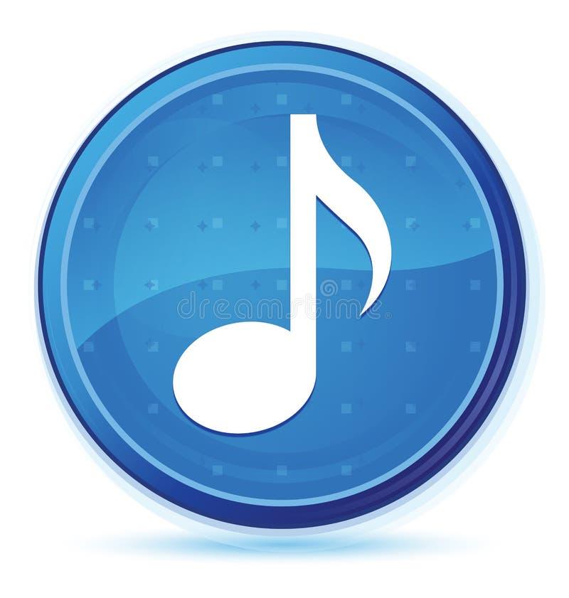 Μπλε πρωταρχικό στρογγυλό κουμπί μεσάνυχτων εικονιδίων μουσικής ελεύθερη απεικόνιση δικαιώματος