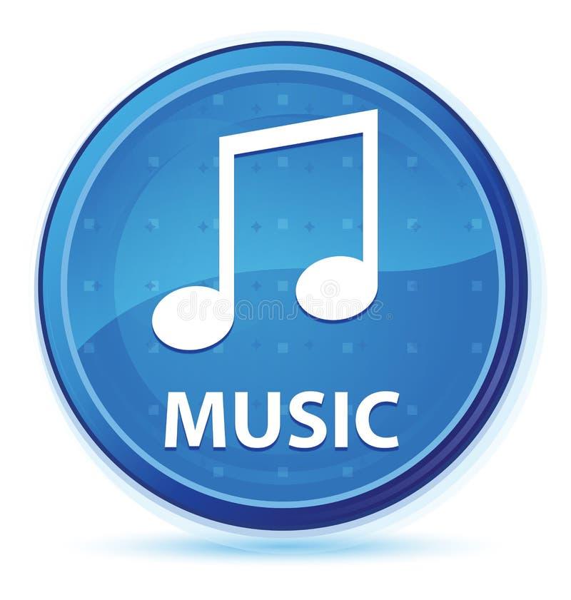 Μπλε πρωταρχικό στρογγυλό κουμπί μεσάνυχτων μουσικής (εικονίδιο τόνου) απεικόνιση αποθεμάτων