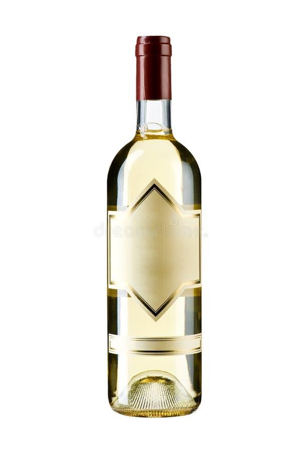 Μπουκάλι του κρασιού που απομονώνεται στο λευκό στοκ φωτογραφία με δικαίωμα ελεύθερης χρήσης