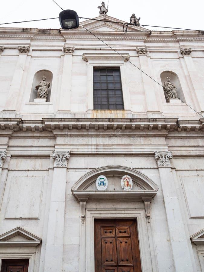 μπροστινή άποψη Basilica Di Sant'Alessandro σε Colonna στοκ φωτογραφία με δικαίωμα ελεύθερης χρήσης
