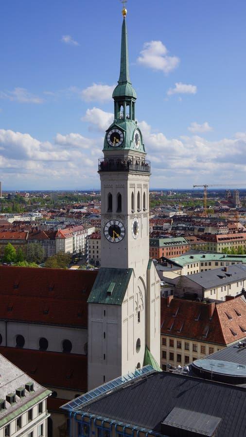 Νέα εκκλησία θέας Δημαρχείων του Μόναχου Marienplatz Βαυαρία στοκ φωτογραφίες με δικαίωμα ελεύθερης χρήσης