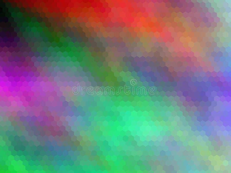 Νέο υπόβαθρο πολυτέλειας Πολύχρωμος, hexagonally απεικόνιση αποθεμάτων