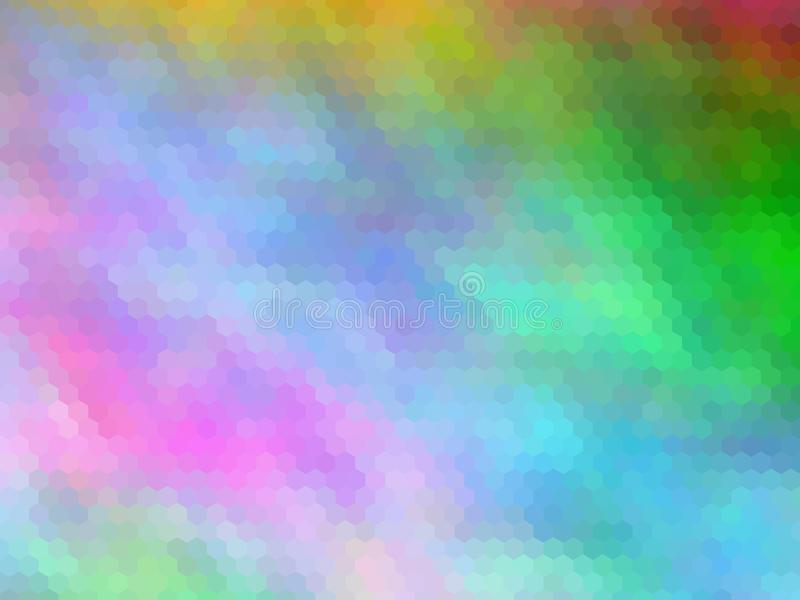Νέο υπόβαθρο πολυτέλειας Πολύχρωμος, hexagonally ελεύθερη απεικόνιση δικαιώματος