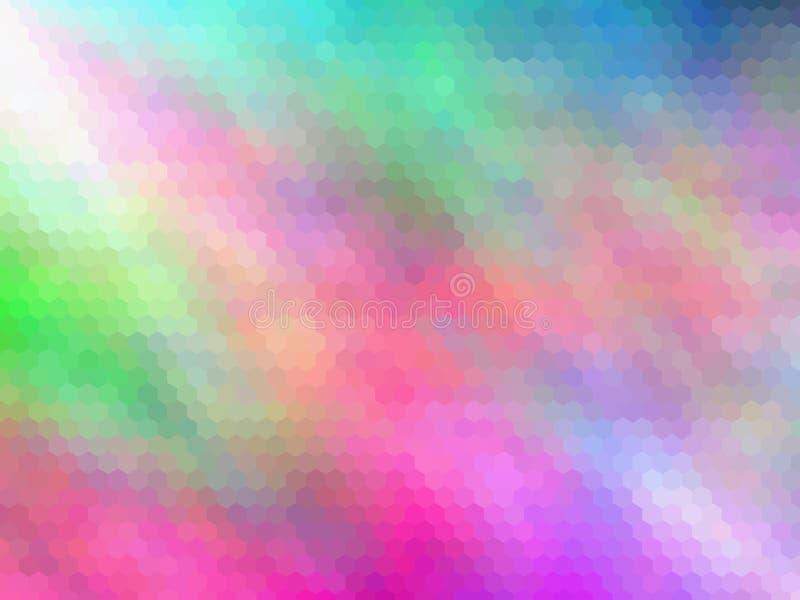 Νέο υπόβαθρο πολυτέλειας Πολύχρωμος, hexagonally διανυσματική απεικόνιση